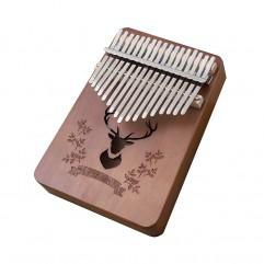 kalimba 17 key mahogany thumb piano mbira Africa f...