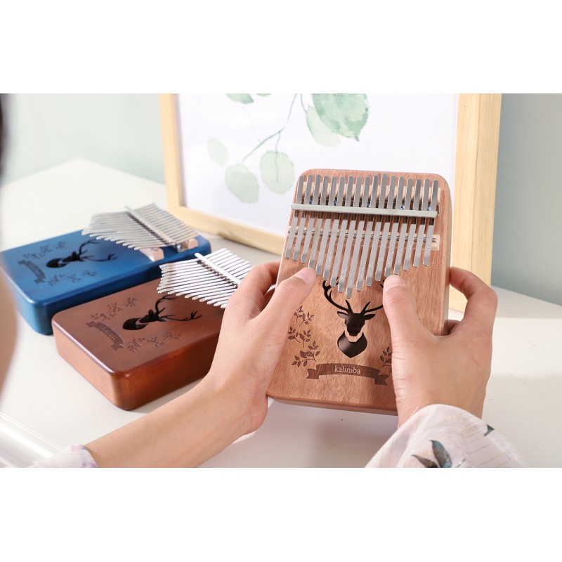 kalimba 17 key mahogany thumb piano mbira Africa finger piano instrumento musical