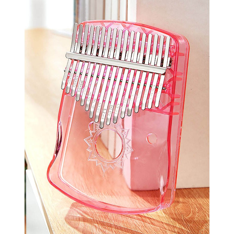 kalimba transparent thumb piano crystal 17-tone kalimba beginner kalimba finger piano