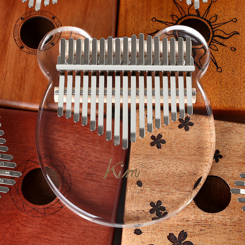 Kalimba Acrylic 17 Key Transparent Thumb Piano Mbi...